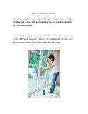 10 bí quyết làm sạch cửa kính
