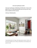 Ánh sáng trong không gian nội thất