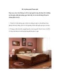 Bố trí phòng ngủ để ngon giấc