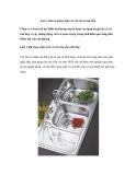 Lưu ý khi sử dụng chậu và vòi rửa trong bếp