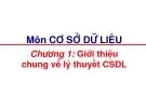 Chương 1: Giới thiệu  chung về lý thuyết CSDL