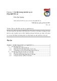 Giáo trình xử lý bức xạ và cơ sở của công nghệ bức xạ chương 1