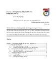 Giáo trình xử lý bức xạ và cơ sở của công nghệ bức xạ chương 3