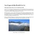 Top 10 ngọn núi hấp dẫn nhất Lào Cai