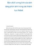 Tài liệu: Bản chất lưỡng tính của ánh sáng phản ánh trong các thành tựu Nobel