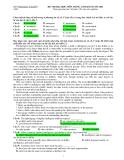 Đề thi Đại học môn tiếng Anh - Báo Tuổi trẻ