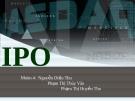 Bài thuyết trình IPO