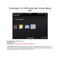 Clock King v1.22 Hỗ trợ báo thức với giao diện lạ mắt