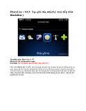 DiaryLine v1.0.3 Tạo ghi chú, nhật ký trực tiếp trên BlackBerry