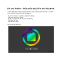 File and Folders - Phần mềm duyệt File trên PlayBook