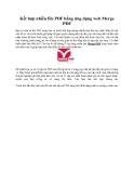 Kết hợp nhiều file PDF bằng ứng dụng web Merge PDF
