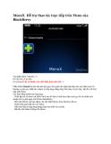 MenuX Hỗ trợ thao tác trực tiếp trên Menu của BlackBerry