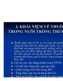 Bệnh học thủy sản : KHÁI NIỆM VỀ THUỐC TRONG NUÔI TRỒNG THỦY SẢN part 1