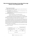 Giáo trình phân tích khả năng xử lý các lệnh số học logic của bộ vi xử lý xung clock chuẩn p1