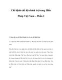 Chế định chế độ chính trị trong Hiến Pháp Việt Nam – Phần 2