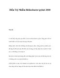 Điều Trị Nhiễm Helicobacter pylori 2010