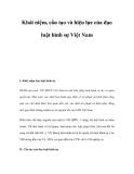 Khái niệm, cấu tạo và hiệu lực của đạo luật hình sự Việt Nam