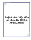 Luật tổ chức Viện kiểm sát nhân dân 2002 số 34/2002/QH10