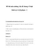 Đề thi môn những vấn đề chung về luật hình sự và tội phạm - 1