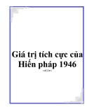 Giá trị tích cực của Hiến pháp 1946