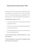 Tổng hợp bài tập Luật hành chính – Phần 1