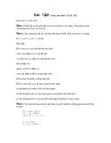 Cấu trúc dữ liệu và giải thuật I - BÀI TẬP BÀI TẬP LÝ THUYẾT