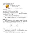 KỲ THI OLYMPIC TRUYỀN THỐNG 30/4 LẦN THỨ XIII - ĐỀ THI MÔN VẬT LÝ