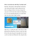 Cách khóa và mở khóa máy tính bằng ma thuật xanh