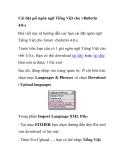 Cài đặt gói ngôn ngữ Tiếng Việt cho vBulletin 4.0.x