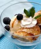 Kem với chuối dừa rán giòn giòn Ăn kem mà lại có vị giòn giòn thì sao