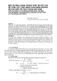 """Báo cáo nghiên cứu khoa học: """"MỘT SỐ ĐIỀU CHỈNH TRONG THIẾT KẾ KẾT CẤU BÊ TÔNG CỐT THÉP BẰNG PHẦN MỀM SAP2000 ĐỂ PHÙ HỢP VỚI TIÊU CHUẨN VIỆT NAM"""""""