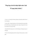 Tổng hợp câu hỏi nhận định môn Luật Tố tụng hành chính 2