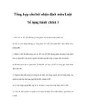 Tổng hợp câu hỏi nhận định môn Luật Tố tụng hành chính 1
