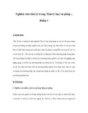 Nghiên cứu tâm lý trong Tâm lý học tư pháp - Phần 1