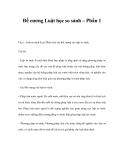 Đề cương Luật học so sánh – Phần 1