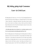 Tìm hiểu về Hệ thống pháp luật Common Law và Civil Law
