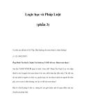 Logic học và Pháp Luật (phần 3)