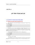Giáo trình cơ sở Matlab v5.3-1 - Phần 1 Cơ sở matlab - Chương 3