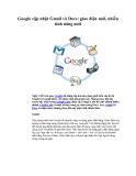 Google cập nhật Gmail và Docs: giao diện mới, nhiều tính năng mới