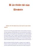 Bí ẩn thiên tài của Einstein