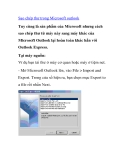 Sao chép thư trong Microsoft outlook