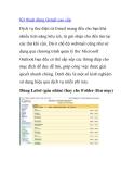 Kỹ thuật dùng Gmail cao cấp