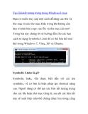 Tạo liên kết tượng trưng trong Windows/Linux