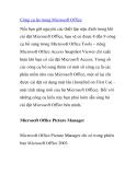 Công cụ ẩn trong Microsoft Office máy tính