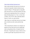 Tiện ích sắp xếp tiếng Việt trong Excel