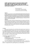 """Báo cáo nghiên cứu khoa học: """"CHIẾT ANTHOCYANIN TỪ QUẢ DÂU BẰNG NƯỚC SULFURED VÀ MỘT SỐ ĐẶC TÍNH CỦA CHÚNG"""""""