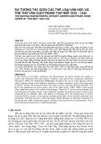 """Báo cáo nghiên cứu khoa học: """"SỰ TƯƠNG TÁC GIỮA CÁC THỂ LOẠI VĂN HỌC VÀ THỂ THƠ VĂN XUÔI TRONG THƠ MỚI 1932 – 1945"""""""