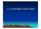CHƯƠNG 6: INTERNET EXPLORER