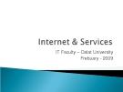 Internet và các dịch vụ