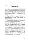 SINH THÁI HỌC - CHƯƠNG 4